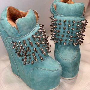 Jeffery Campbell Suede Spiked platforms